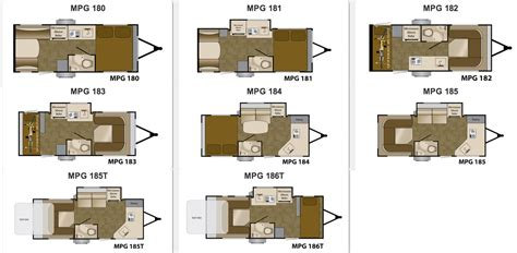 mpg travel trailer floor plans image gallery mpg cer