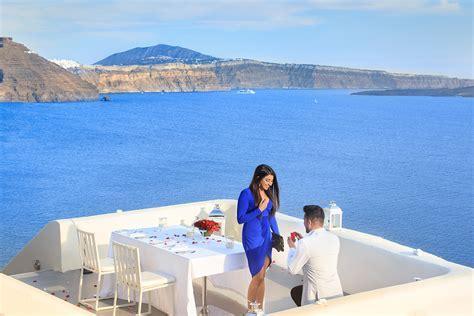 Top Marriage Proposal in Santorini   Romantic