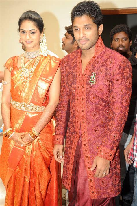 allu arjun wedding images allu arjun marriage reception photos pictures pics