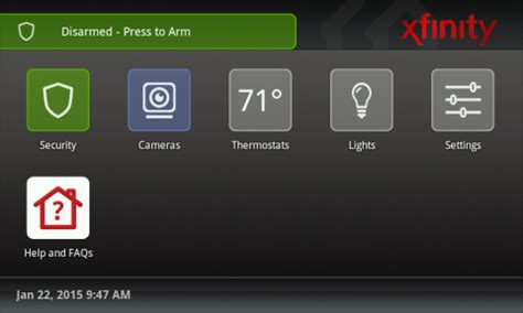 arm and disarm your xfinity home system