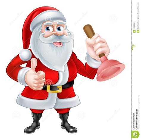 Santa Plumbing by Santa Plumber Stock Vector Image Of Cleaner Handy Home