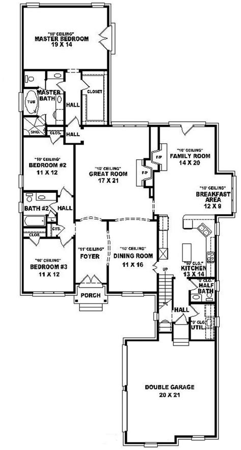 half bath floor plans 654015 one and a half story 3 bedroom 2 5 bath french