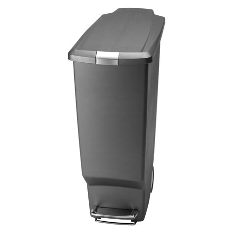 Trash Cans Kitchen by Simplehuman 174 Slim Plastic Step 11 Gallon Trash Can