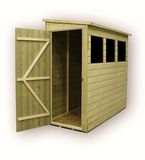 Pent Shed 6 X 3 by 6 X 3 Pressure Treated Tongue And Groove Pent Shed