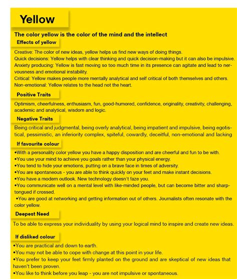 meaning of yellow in personality search jobsila