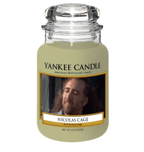 Candles Meme - yankee candle america s best loted canalt nicolas cage a