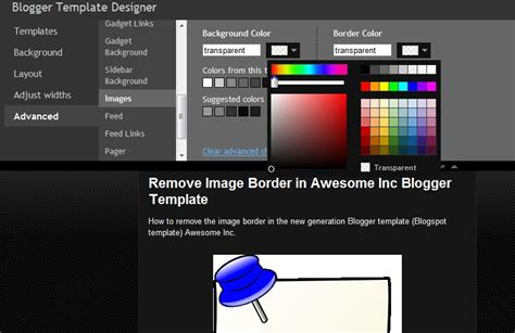 remove image border in default blogger templates simple