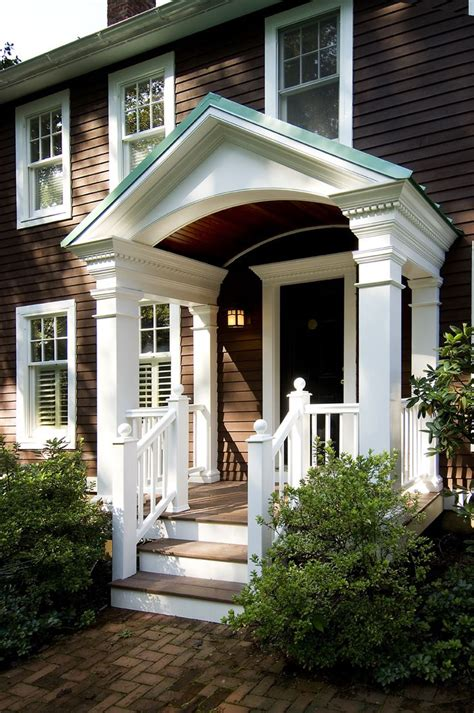 Front Door Porticos 25 Best Ideas About Portico Entry On Side Door Front Door Overhang And Front Door