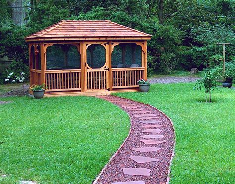 Screened Gazebo Kits Square Screened Gazebo Kit Pergola Design Ideas
