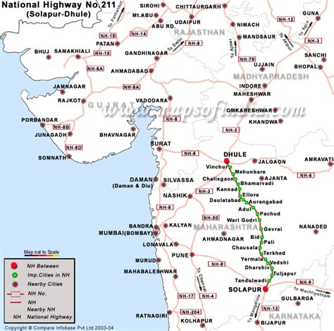 road map direction driving national highway 211 solapur to dhule road map