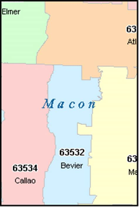 macon zip code map macon county missouri digital zip code map