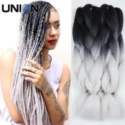 kanekolan hair black white grey aliexpress com buy 24inch 100g blue box braids