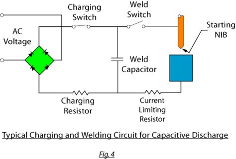 capacitor discharge welder circuit resistance and percussive arc welding in diodes capacitors power rectifiers