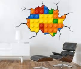 lego stickers for wall lego brick wall stickers are way to redecorate any room
