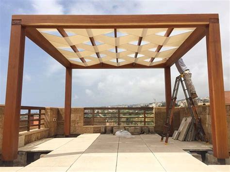 when is it time to put your time to put fabric on your pergolakitslebanon fabric pergola wood byblos sud
