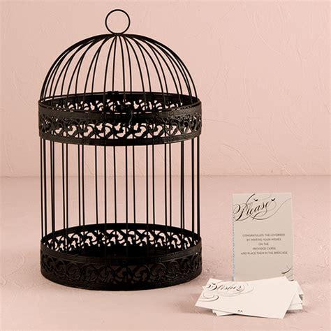 decorative birdcage wedding card holder or wishing well