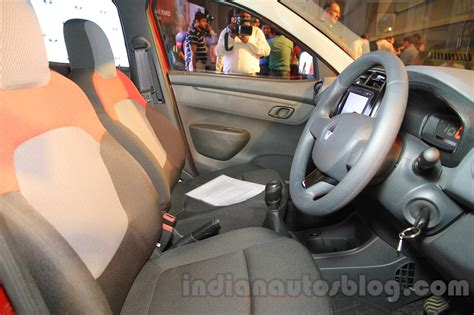 renault kwid interior seat renault kwid seats front launched india indian autos blog