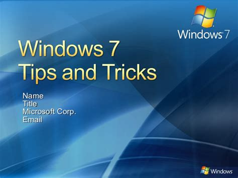 download themes for windows 7 ppt theme powerpoint windows 7 windows 7 tips tricks ppt version