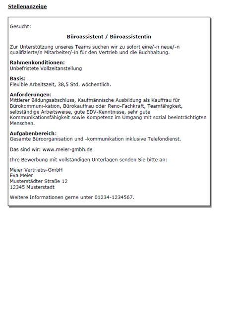 Bewerbung Als Kaufmann Bewerbung Kaufmann Kauffrau F 252 R B 252 Rokommunikation Gek 252 Ndigt Berufserfahrung Sofort