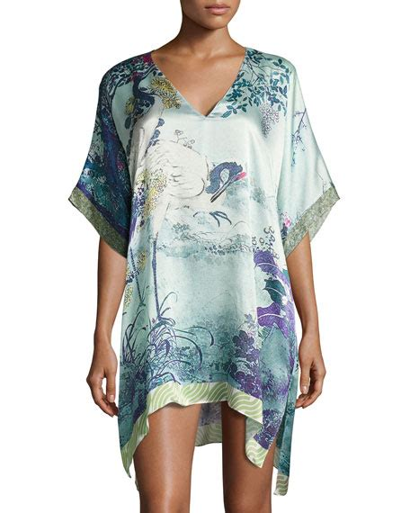 pattern sleep shirt christine designs gatsby tunic silk sleep shirt multi