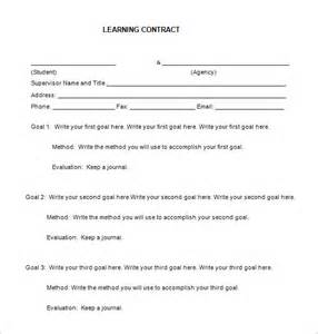 7 learning contract templates free word pdf documents