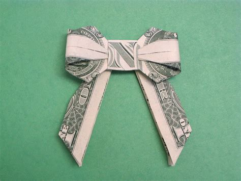 Dollar Bill Bow Tie Origami - beautiful money origami pieces many designs made of