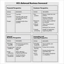 balanced scorecard template 13 free word excel amp pdf