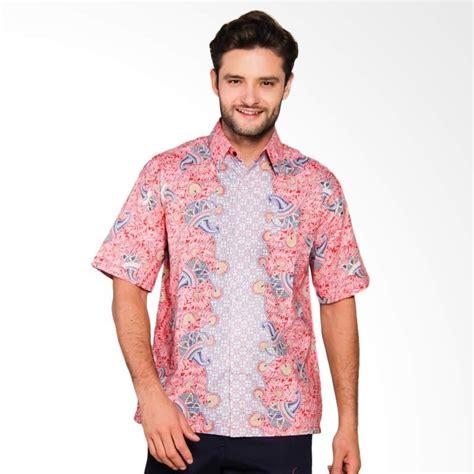Kemeja Pria Batik Slim Fit Modern Lengan Pendek Ob 517 jual adiwangsa model slim fit modern baju kemeja batik