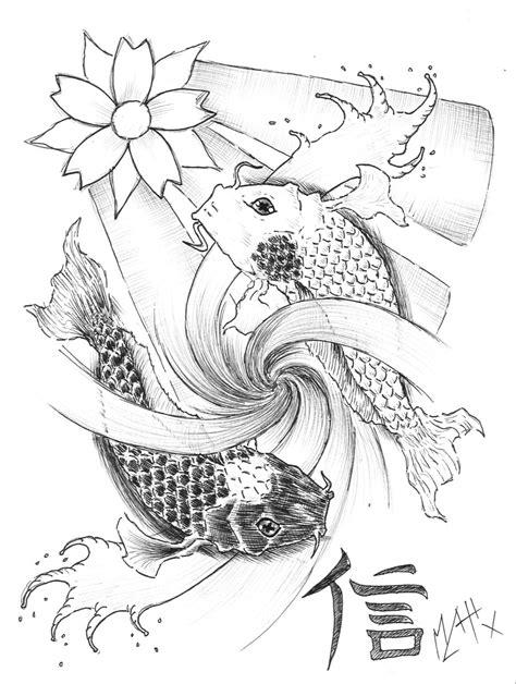 yin yang koi tattoo designs pin yin yang koi fish unbrokenshadow image tattooing