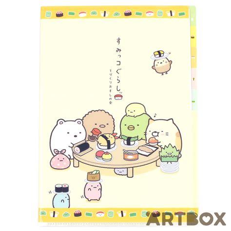 Sumikko Gurashi Original San X Sumikko Gurashi Paper Clip buy san x sumikko gurashi a4 5 tab clear file sushi table at artbox