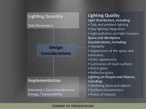 lighting design powerpoint lighting design considerations