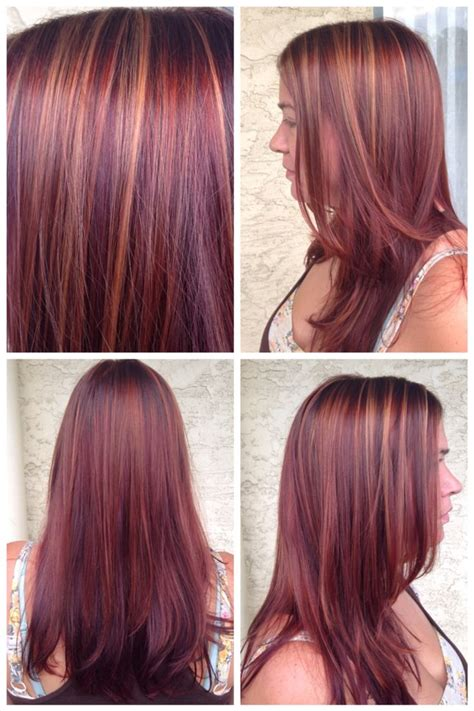 Pinterest Rich Violets Reds Browns Long Hair | fall inspired color copper highlights with a rich red