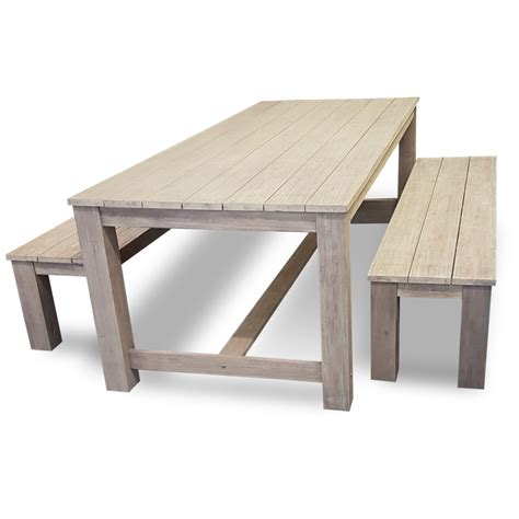 outdoor bench set sorrento timber outdoor bench set bare outdoors