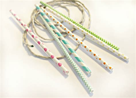 How To Make A Paper Straw - paper straw wrap bracelet crafts for