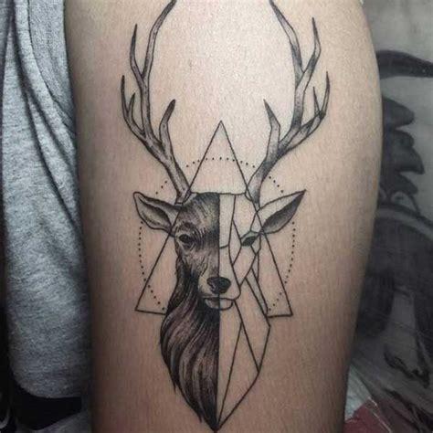 tattoo geometric deer geometric deerr tattoo tumblr geyik d 246 vmeleri deer