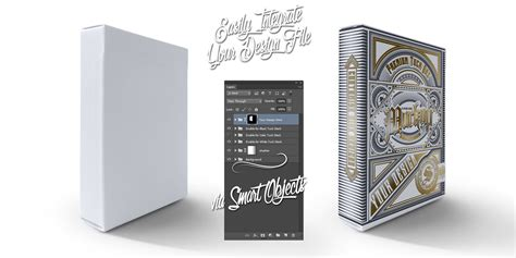 Card Tuck Box Template by Card Tuck Box Mock Ups Psd Templates Front View
