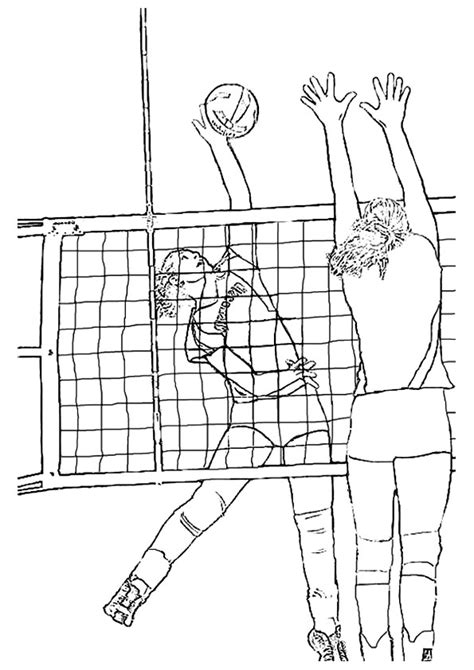 coloring pages volleyball girl volleyball player coloring pages
