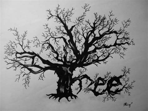 Trees Trees Typography Black tree typography by rkruger4 on deviantart