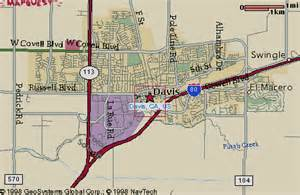 map of davis california directions page