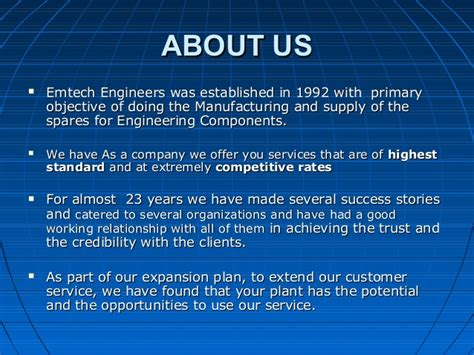 Introduction Letter Of Manufacturing Company Emtech Engineers Introduction Letter