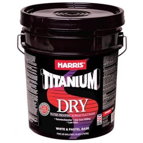 is exterior paint waterproof harris titanium 5 gal flat acrylic interior
