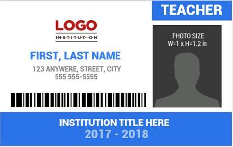 Teacher Photo Id Badge Templates For Ms Word Word Excel Templates Photo Id Badge Template