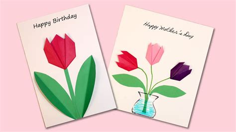 Origami Flowers For Cards - easy origami flower cards