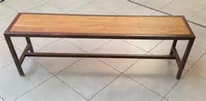 banc m 233 tal banc acier et bois sur mesure