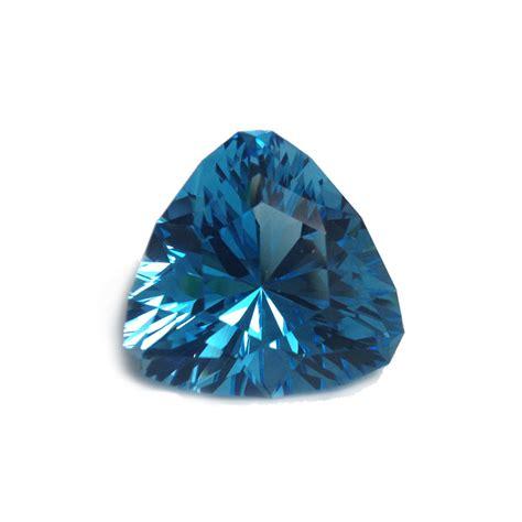 Sky Blue Topaz C 518 sky blue topaz design cut trillion 57 3 carats americut gems
