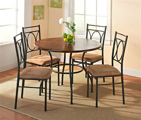 best dining table for small space round metal dining table with wooden top design for small