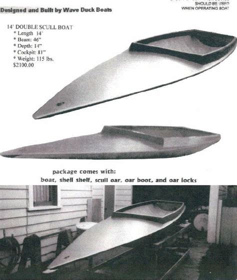 duck hunting scull boat for sale scull boats