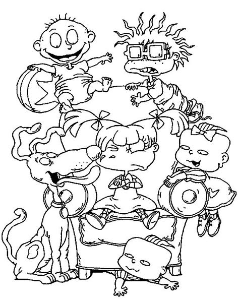 images  rugrats coloring pages  pinterest