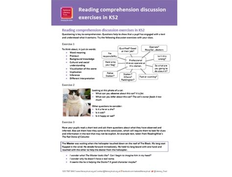 reading comprehension test ks2 reading comprehension discussion exercises questions and