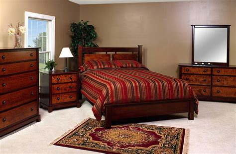 maple furniture bedroom amish tiger maple bedroom